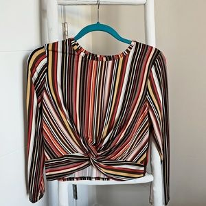 Colorful Cropped Shirt